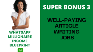 WELL-PAYING ARTICLE WRITING JOBS